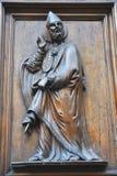 Wooden door detail, Italy  Stock Images