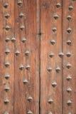 Wooden door detail Royalty Free Stock Photography