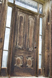 Wooden door details in Bodie Royalty Free Stock Photography