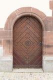 Wooden_door_diamond_ornament 图库摄影