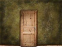 Wooden door. Dirty wound with wooden door Royalty Free Stock Photos