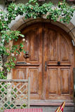 Wooden door in Eguisheim village Stock Images