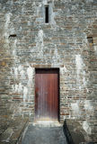 Wooden door entrance to medieval castle Royalty Free Stock Images