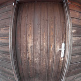 Wooden door with fisheye Stock Photography