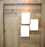 Wooden door and frame picture. Royalty Free Stock Images