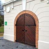 Wooden Door in Franschoek Stock Images