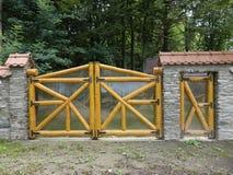 Wooden door and gate Stock Photos