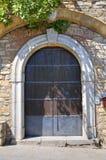 Wooden door. Guardia Perticara. Basilicata. Italy. Royalty Free Stock Images