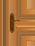 Wooden Door - Handle Royalty Free Stock Photo
