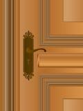 Wooden Door - Handle Royalty Free Stock Photo