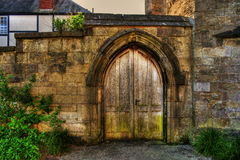 Wooden Door HDR Royalty Free Stock Photo