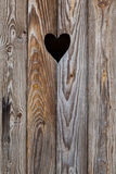 The wooden door with heart. Background royalty free stock image