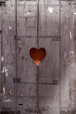 Wooden door with a heart. Wooden old door with a heart Royalty Free Stock Photos