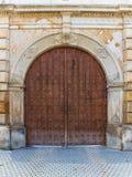 Wooden door. Historic wooden door to the park Royalty Free Stock Photo