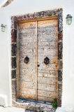 Wooden door of the house Royalty Free Stock Image