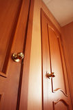 Wooden door. Interior Stock Photography