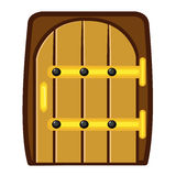 Wooden door isolated illustration Royalty Free Stock Photo