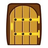 Wooden door isolated illustration Royalty Free Stock Photo