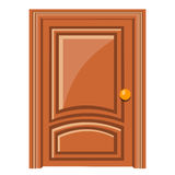 Wooden door isolated illustration Stock Photography