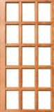 Wooden door isolated Stock Images