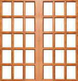 Wooden door isolated Stock Photos