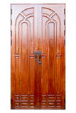 Wooden door isolated on white. Royalty Free Stock Photos