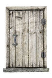 Wooden door isolated on a white background Royalty Free Stock Photo