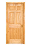 Wooden door. Isolated on the white background Stock Photo