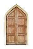 Wooden door isolated on white.Vintage style. Stock Photo