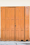 Wooden door and key lock Royalty Free Stock Images