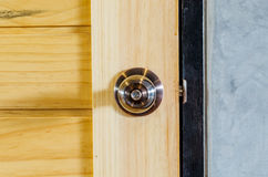 Wooden door knob Royalty Free Stock Photography