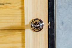 Wooden door knob Royalty Free Stock Photography