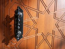 Wooden Door and Knob stock photography