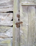 Wooden door with lock Stock Photography