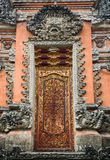 The wooden door at the Lotus temple in Bali, Indonesia Royalty Free Stock Photo
