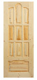 Wooden door made of coniferous tree Royalty Free Stock Image