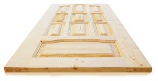 Wooden door made of coniferous tree Stock Photos