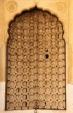 A wooden door in Mandawa stock photo