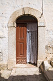 Wooden door. Minervino Murge. Puglia. Italy. Royalty Free Stock Images