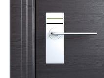 Wooden door with card lock. 3d rendering Stock Photography