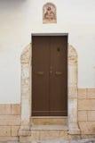 Wooden door. Monopoli. Puglia. Italy. Royalty Free Stock Photo