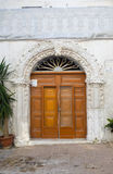 Wooden door. Monopoli. Puglia. Italy. Royalty Free Stock Photos