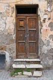 Wooden door. Nepi. Lazio. Italy. Royalty Free Stock Photo