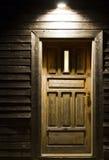 Wooden door in night Royalty Free Stock Photo
