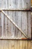 Wooden door of old barn Stock Photo