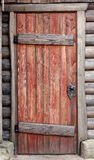 Wooden door of old barn Royalty Free Stock Image