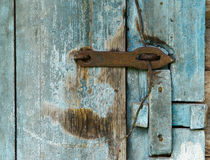 Wooden door of old barn Royalty Free Stock Images