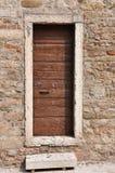Wooden door in old house Stock Photography