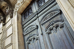 Wooden door of an old house Royalty Free Stock Photo