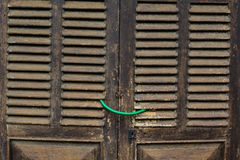 Wooden door of the old house Royalty Free Stock Image